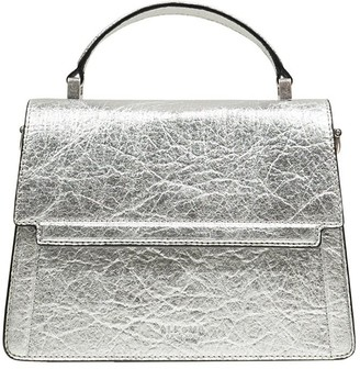 Alkeme Atelier Fire Flap Cross Body - Silver Pineapple Leather