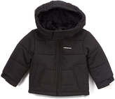 London Fog Black Puffer Coat - Infant