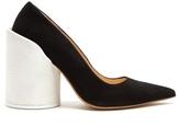 Jacquemus Sculptured-heel suede pumps