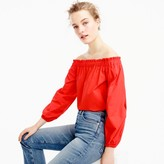 J.Crew Petite long-sleeve off-the-shoulder top