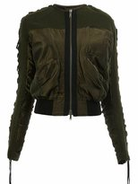 Haider Ackermann ruched bomber jacket