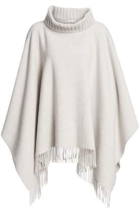 Fabiana Filippi Virgin Wool, Silk & Cashmere Fringe Poncho