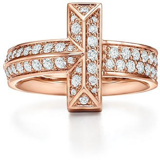 Tiffany & Co. T T1 wide diamond ring in 18k rose gold