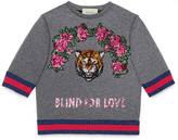 Gucci Children's sweatshirt with sequin appliqués