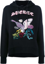 Marcelo Burlon County of Milan embroidered hoodie - women - Cotton - S