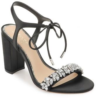 Badgley Mischka Uzuri Embellished Tie Block Heel Sandal