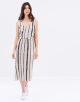 Warehouse Dash Stripe Wrap Dress