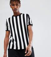 Reclaimed Vintage Inspired Ringer T-Shirt In Black Stripe
