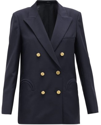 BLAZÉ MILANO First Class Double-breasted Wool-blend Blazer - Navy