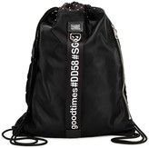 Dolce & Gabbana Black Drawstring Nylon Backpack