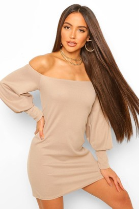 boohoo Recycled Off The Shoulder Mini Dress