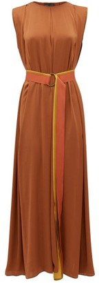Carl Kapp - Pasquiere Belted Satin Dress - Bronze
