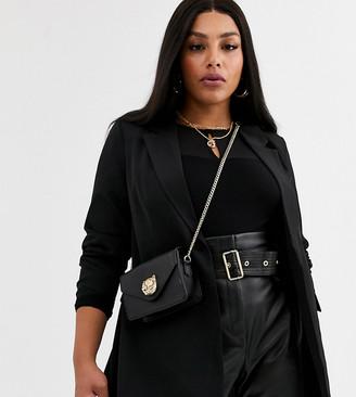 Vero Moda Curve longline blazer in black