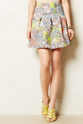 Anthropologie Maeve Carte Neoprene Skirt