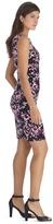 White House Black Market Sleeveless Printed Tier Instantly Slimming Dress