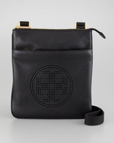 Tory Burch Leather Perforated Swingpack Bag, Black