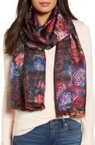 Echo Floral Plaid Silk Wrap