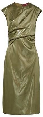 Sies Marjan Edie Ruched Lame Dress