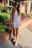 Forever 21 FOREVER 21+ Striped Mini T-Shirt Dress