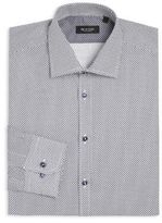 Sand Regular-Fit Diamond Print Dress Shirt