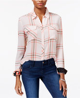 GUESS Dylan Plaid Contrast Shirt