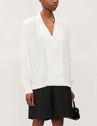 REMAIN Birger Christensen Double-breasted boxy-fit woven blazer