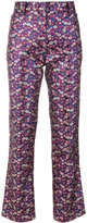 Philosophy Di Lorenzo Serafini - flared jacquard trousers - women - Cotton/Polyester/Viscose - 40