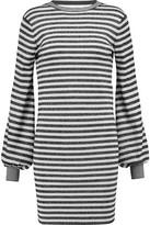 Maje Metallic Striped Stretch-Knit Mini Dress