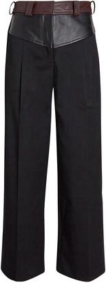 CHRISTOPHER ESBER Maverick Leather-Trimmed Pants