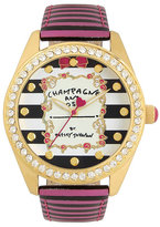 Betsey Johnson Champagne Forever Giftboxed Watch