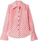 Marc Jacobs Flocked Silk-taffeta Shirt