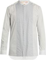 Paul Smith Collarless contrast floral-print shirt