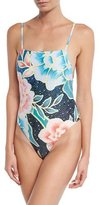 Mara Hoffman Arcadia Floral-Print Tank One-Piece Swimsuit