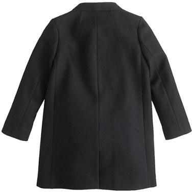 J.Crew Girls' wool-cashmere bow coat