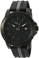 Puma Quartz Stainless Steel and Polyurethane Watch, Color:Two Tone (Model: PU911251004)
