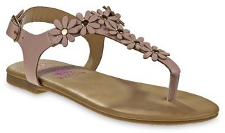 Beverly Hills Polo Club Flower Power T-Strap Sandals (Little Girls & Big Girls)
