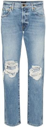 KHAITE Kyle low rise distressed jeans
