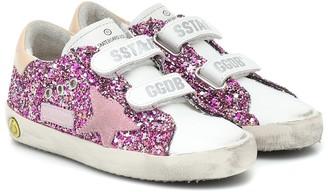 Golden Goose Kids Old School glitter sneakers