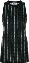 MSGM brand stripe sleeveless top