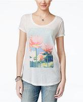 Lucky Brand Brushstroke Lotus Graphic Tunic T-Shirt