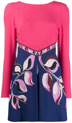 Emilio Pucci Tie-Back Mini Dress