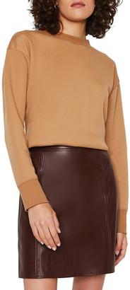 Warehouse Seamed Detail Pu Skirt