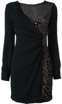 Ungaro leopard print detail dress