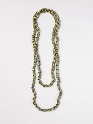 White Stuff Two Tone Mossy Bead Necklace