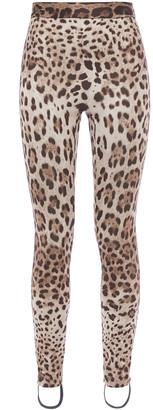 Dolce & Gabbana Leopard-print Stretch-jersey Leggings
