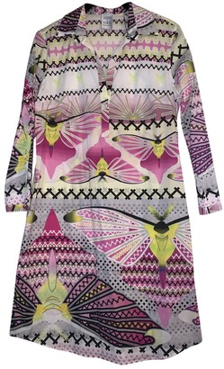 Sara Roka Pink Cotton - elasthane Dress for Women