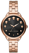Marc Jacobs Analog Betty Rose-Goldtone Leather Strap Watch