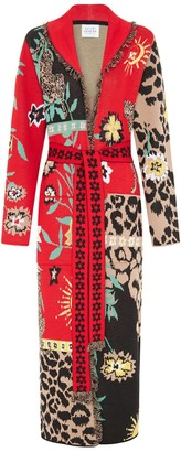 Hayley Menzies Enchanted Leopard Black Red Long Cardigan