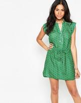 Deby Debo Macaron Green Dress with Drawstring Waist