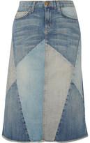 Current/Elliott The Patchwork Denim Skirt